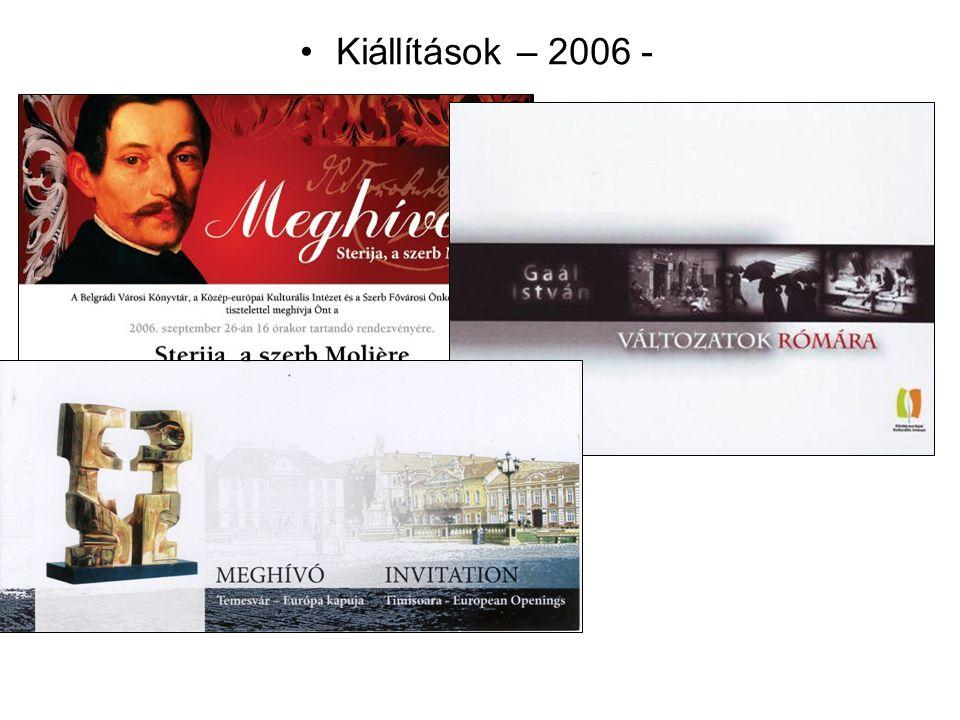 Kiállítások – 2006 -