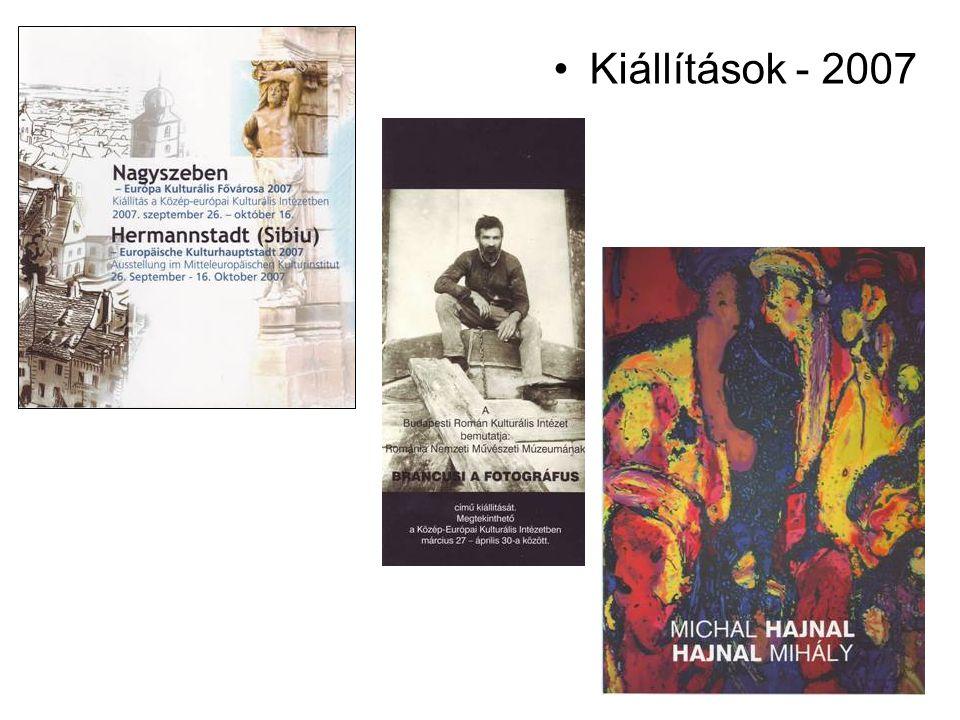 Kiállítások - 2007