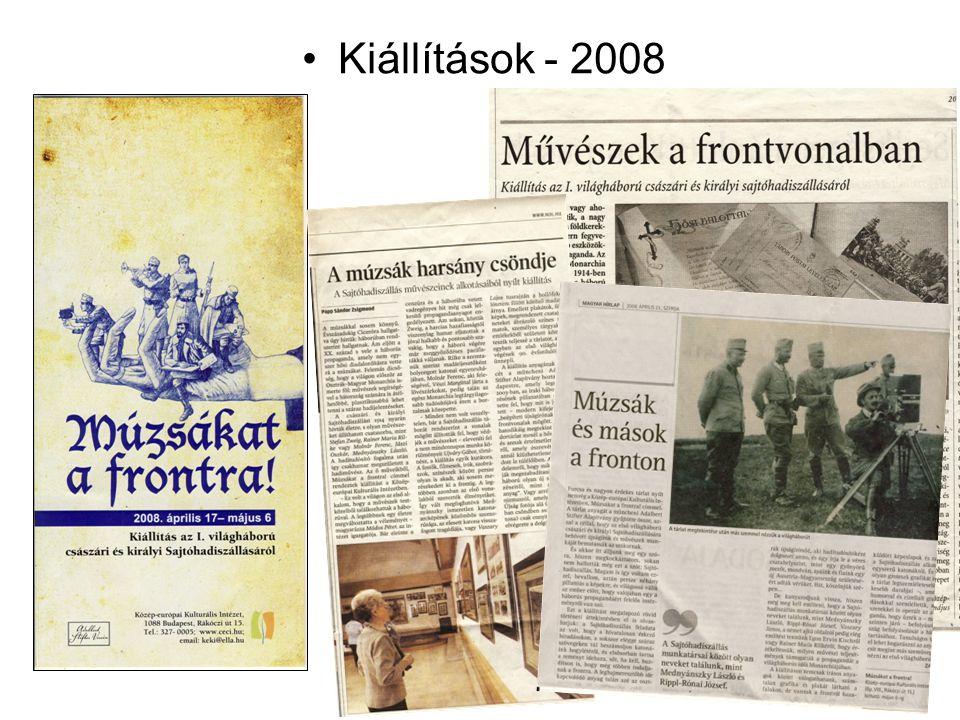 Kiállítások - 2008