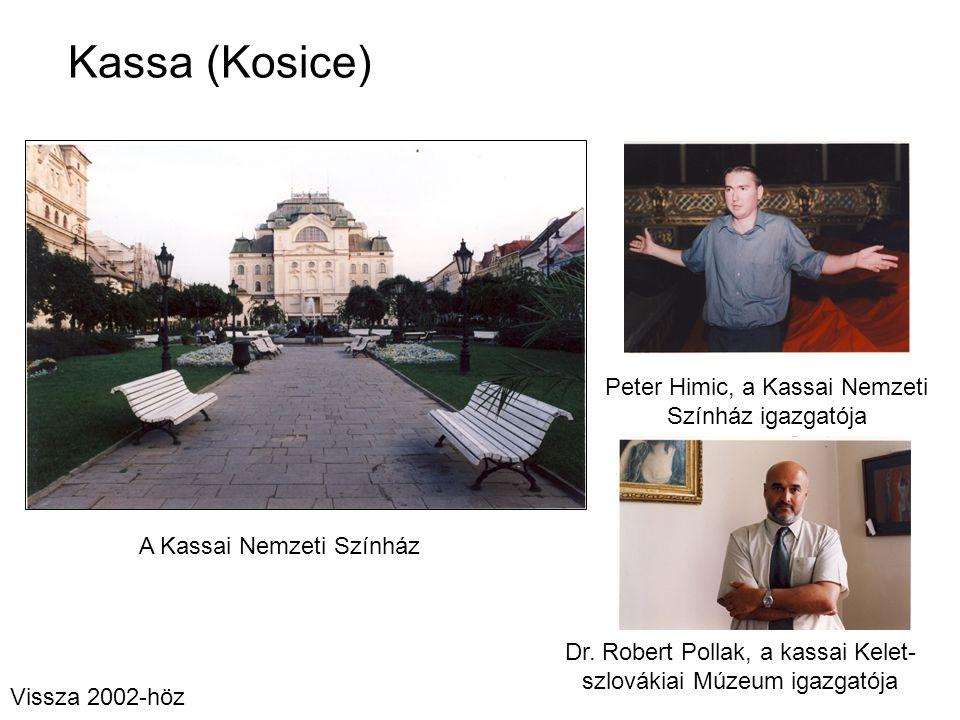 Kassa (Kosice) Peter Himic, a Kassai Nemzeti Színház igazgatója A Kassai Nemzeti Színház Dr. Robert Pollak, a kassai Kelet- szlovákiai Múzeum igazgató