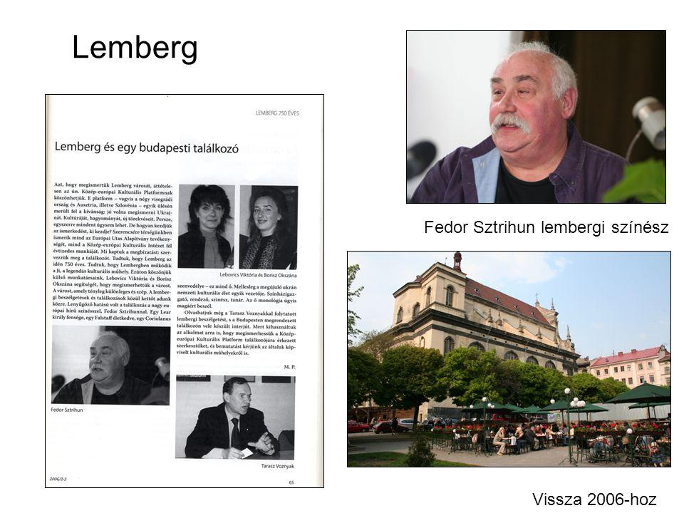 Lemberg Vissza 2006-hoz Fedor Sztrihun lembergi színész