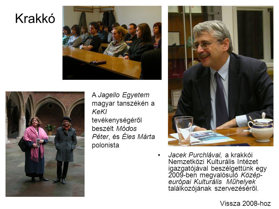 Krakkó Jacek Purchlával, a krakkói Nemzetközi Kulturális Intézet igazgatójával beszélgettünk egy 2009-ben megvalósuló Közép- európai Kulturális Műhely