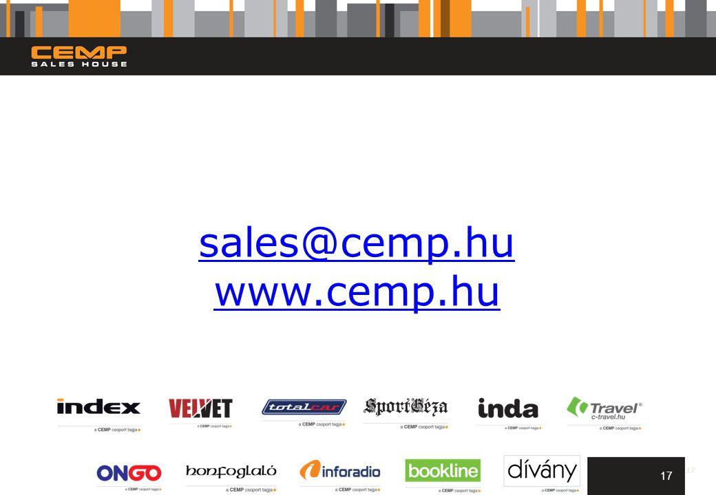 17 sales@cemp.hu www.cemp.hu 17
