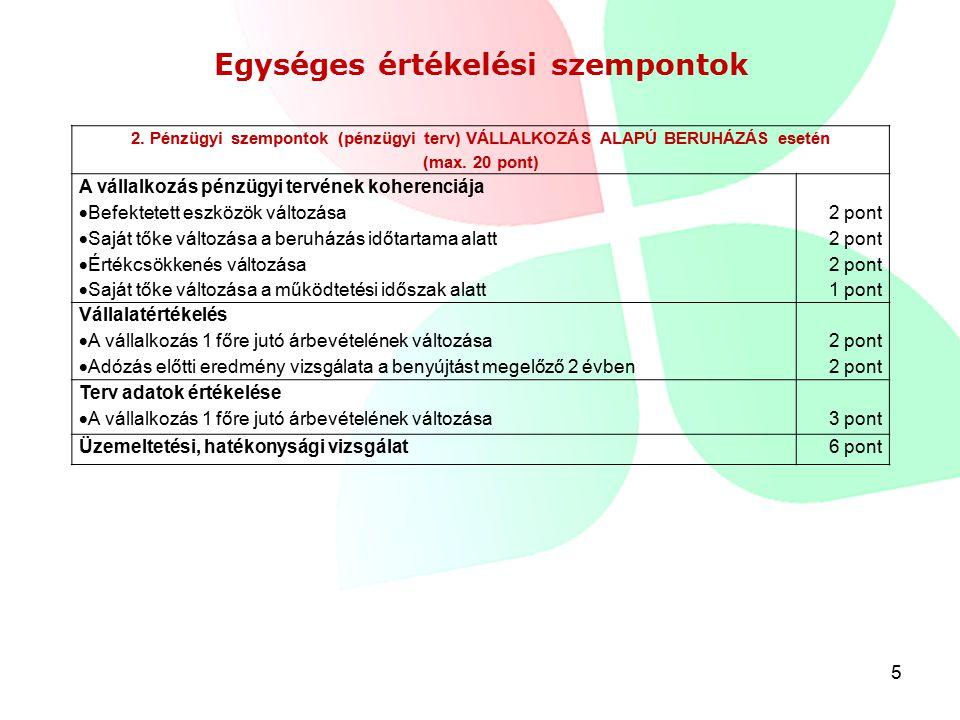 5 Egységes értékelési szempontok 2.