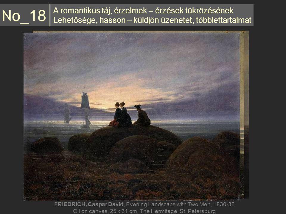 A romantikus táj, érzelmek – érzések tükrözésének Lehetősége, hasson – küldjön üzenetet, többlettartalmat No _18 FRIEDRICH, Caspar David, Evening Land