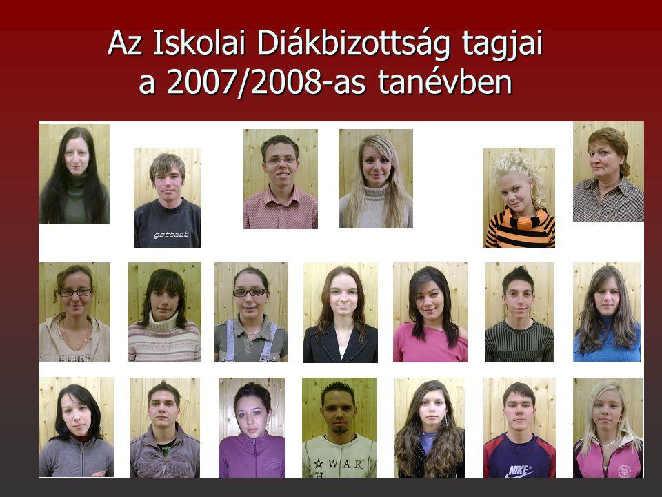 Az Iskolai Diákbizottság tagjai a 2007/2008-as tanévben
