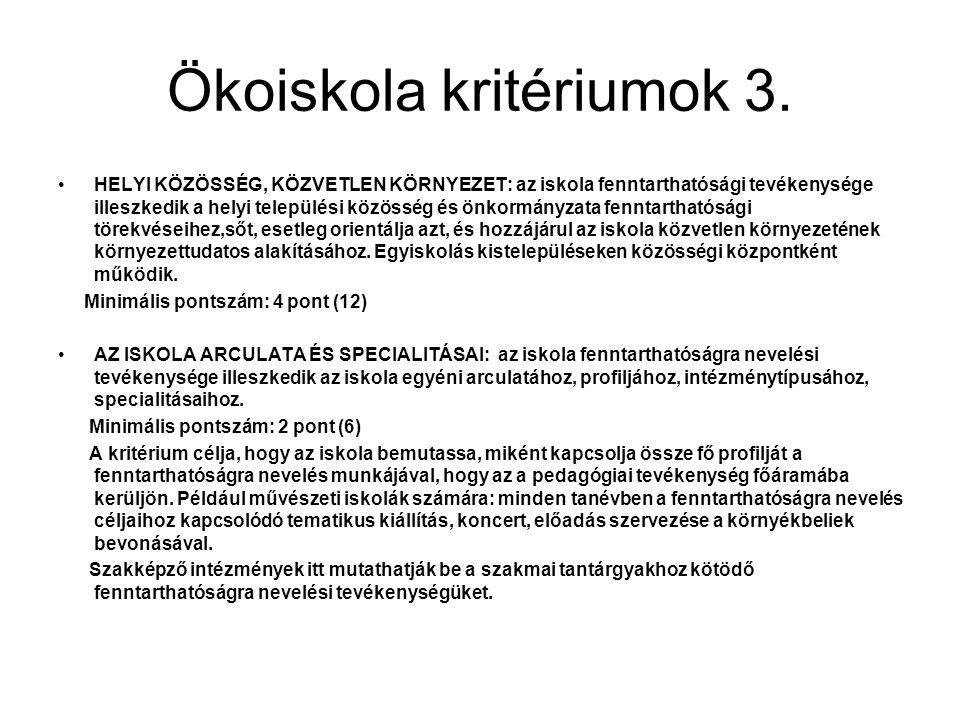 Ökoiskola kritériumok 3.