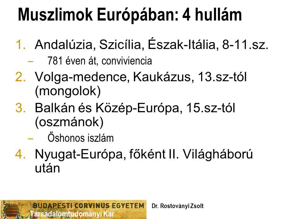 Társadalomtudományi Kar Muszlimok Európában: 4 hullám 1.