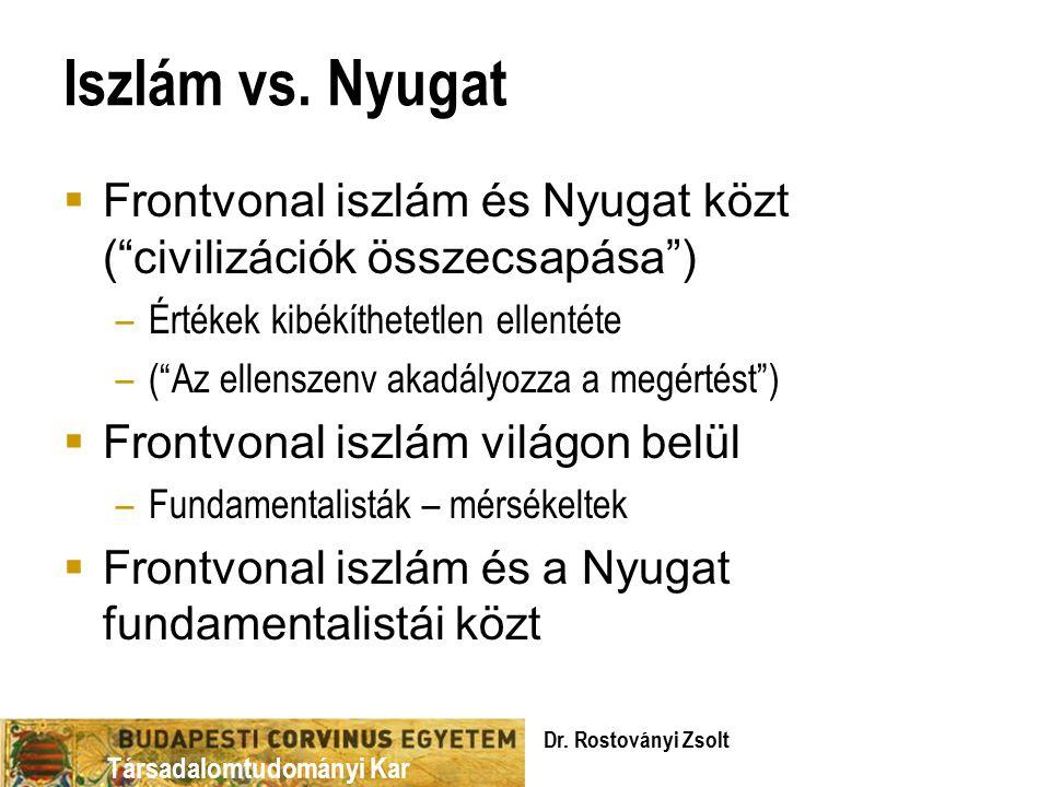 Társadalomtudományi Kar Iszlám vs.