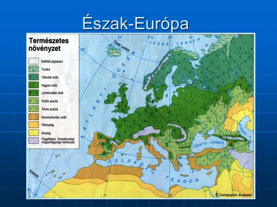 Észak-Európa – Ellenőrző kérdések IV.1. Mi jellemzi a Skandináv-hegyvidék déli részét.