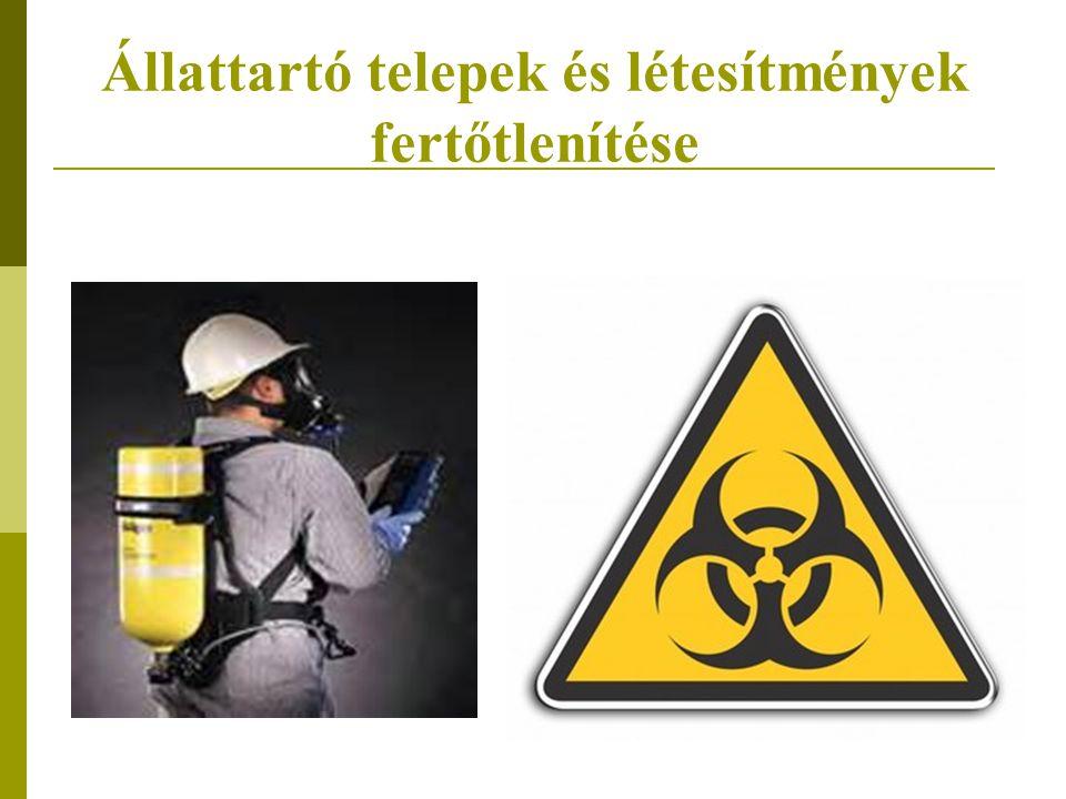 Állattartó telepek és létesítmények fertőtlenítése