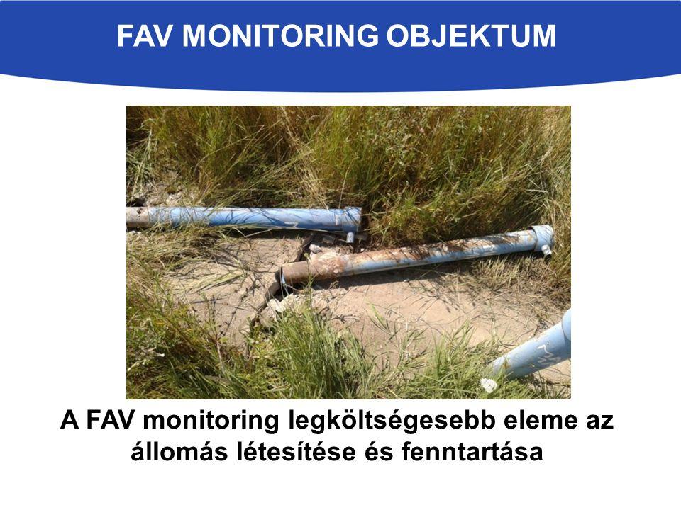 A FAV monitoring legköltségesebb eleme az állomás létesítése és fenntartása FAV MONITORING OBJEKTUM