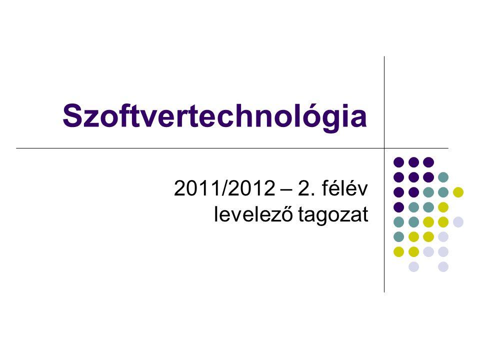 Dr. Johanyák Zs. Csaba - Szoftvertechnológia - 2012 Kialakítási diagram
