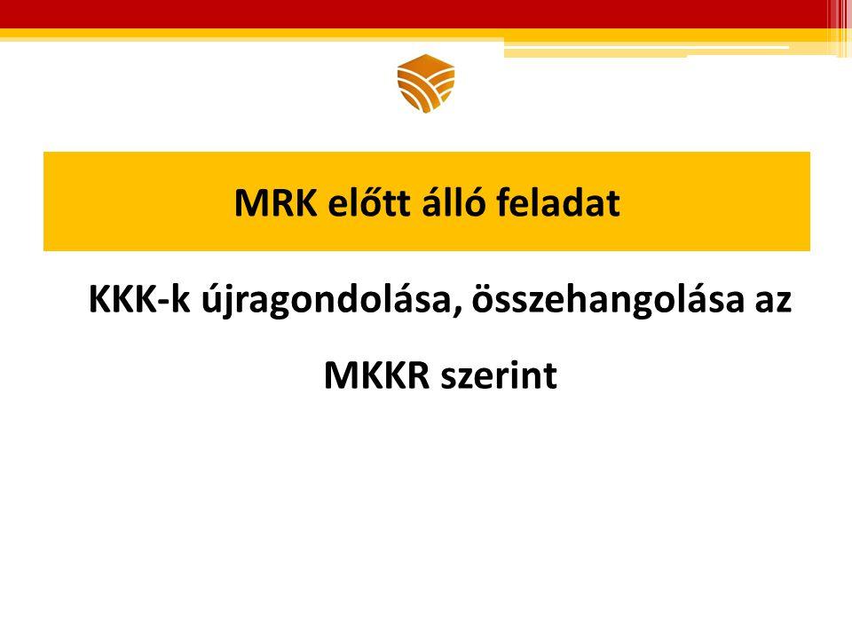 MRK előtt álló feladat KKK-k újragondolása, összehangolása az MKKR szerint