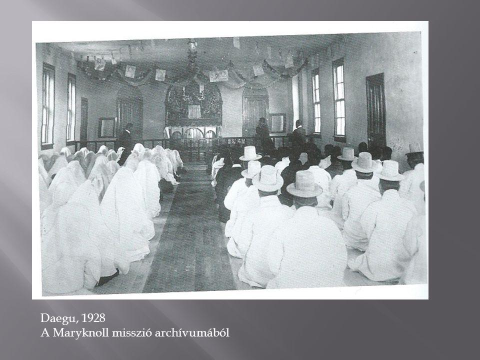 Daegu, 1928 A Maryknoll misszió archívumából