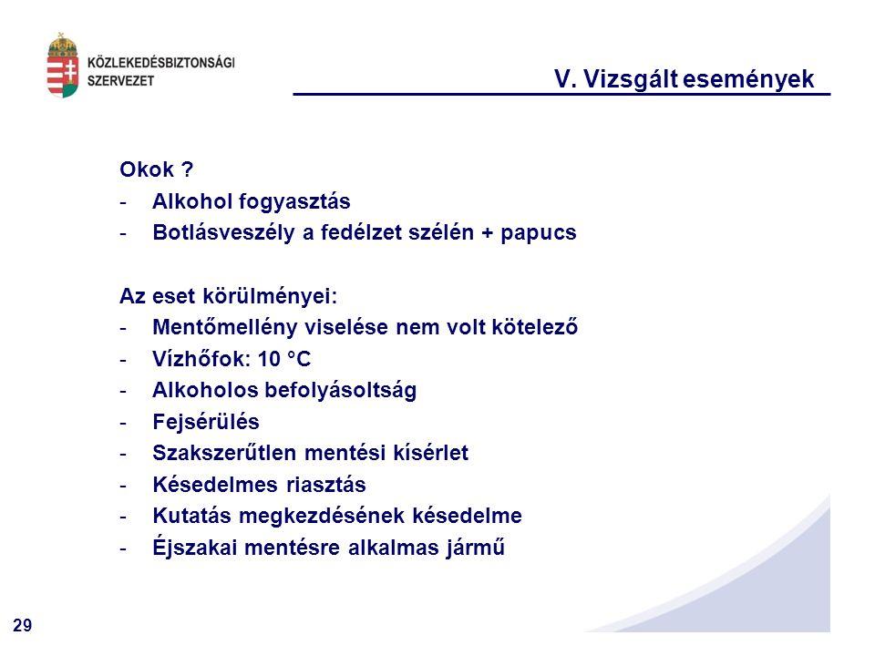 29 V.Vizsgált események Okok .