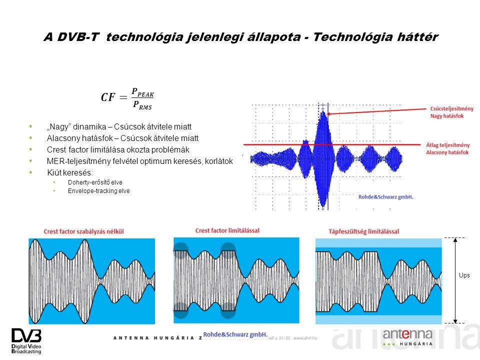 A DVB-T technológia jelenlegi állapota - Technológia háttér Ups