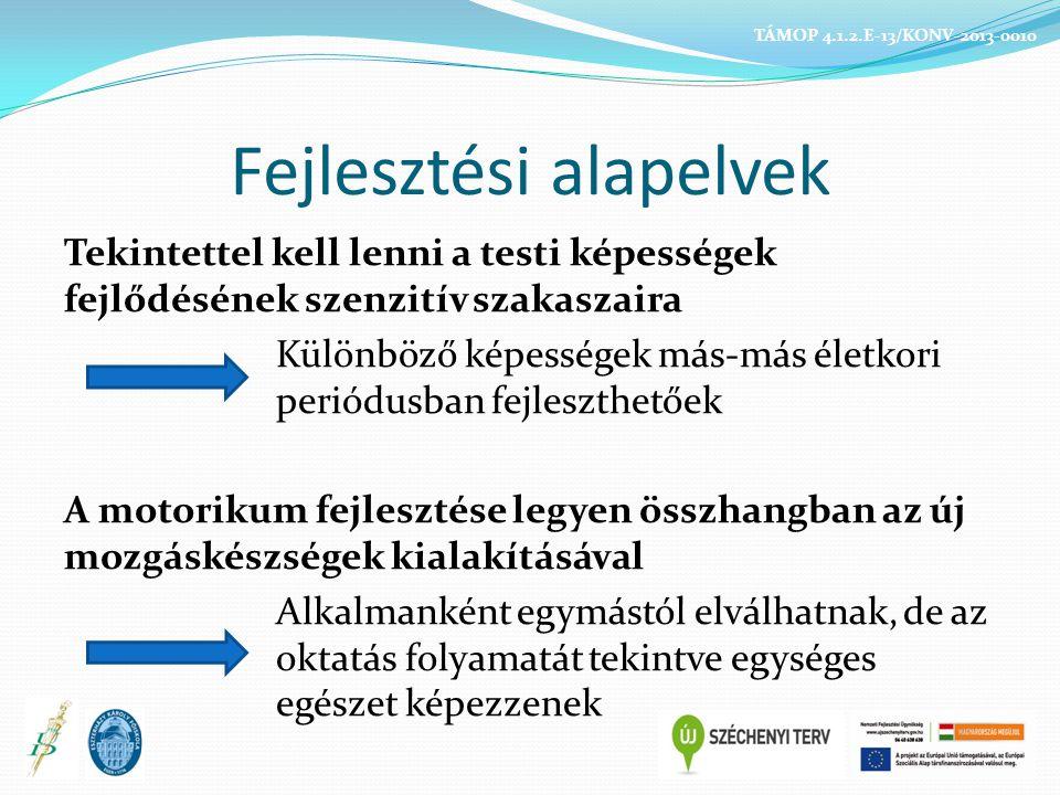 Üzenet változásváltoztatás SAJÁTOS SZUBKULTÚRA El kell fogadni Meg kell ismerni Vonzó mozgásprogramot kell számukra biztosítani MÁSFAJTA TANULÁS MÁSFÉLE TANÍTÁS TÁMOP 4.1.2.E-13/KONV-2013-0010