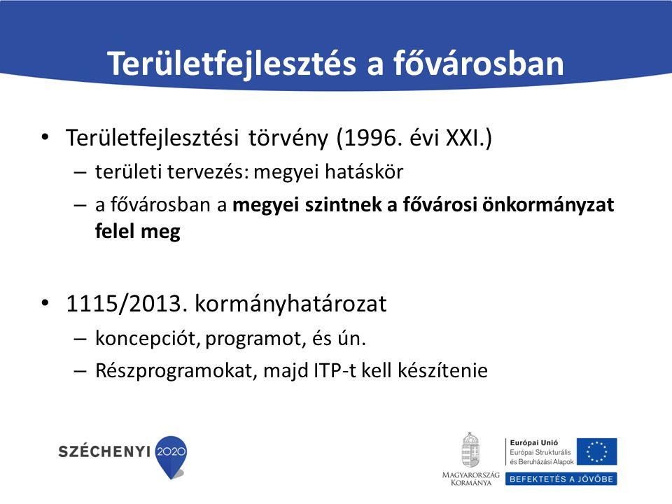 Keretösszegek A területi szereplők forráskeretének a VEKOP TKR intézkedései közötti forrásmegosztása (Mrd forint) Intézkedés nevePest megye Budapest Főváros Érd MJV 1.
