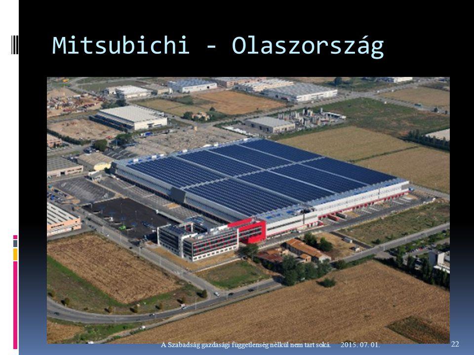 Mitsubichi - Olaszország 2015. 07. 01.A Szabadság gazdasági függetlenség nélkül nem tart soká. 22