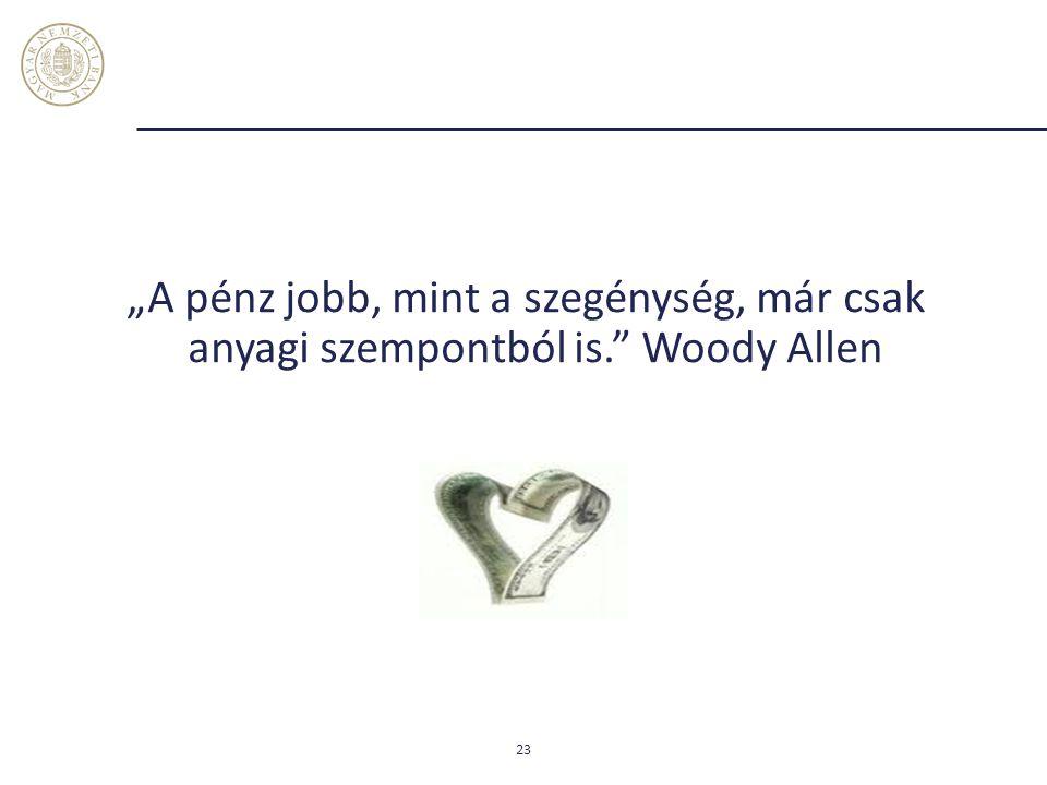 """""""A pénz jobb, mint a szegénység, már csak anyagi szempontból is."""" Woody Allen 23"""