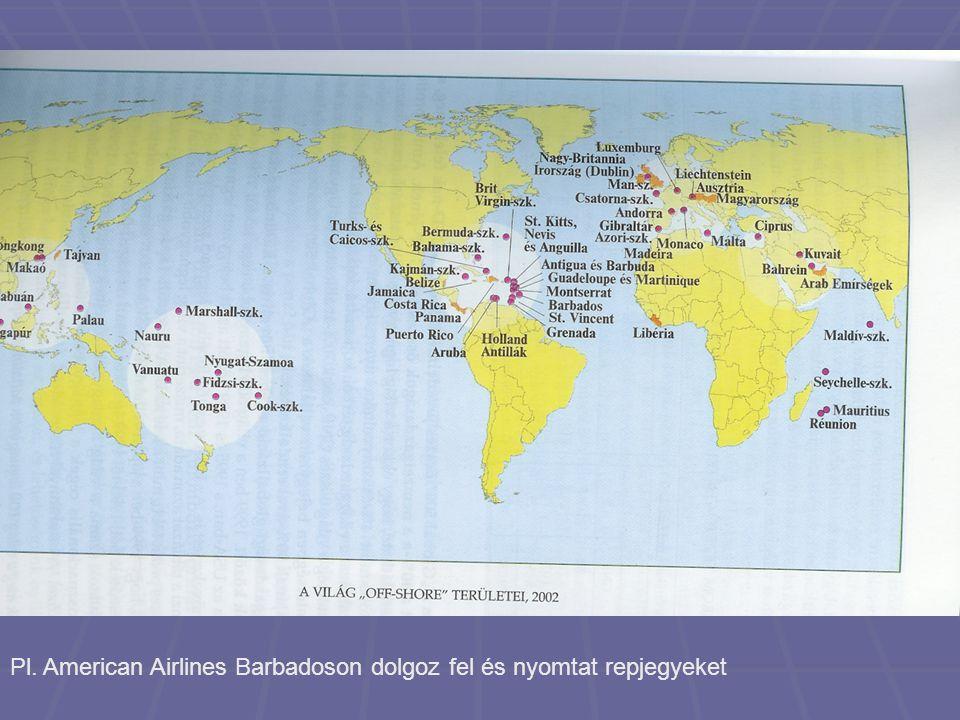 Pl. American Airlines Barbadoson dolgoz fel és nyomtat repjegyeket