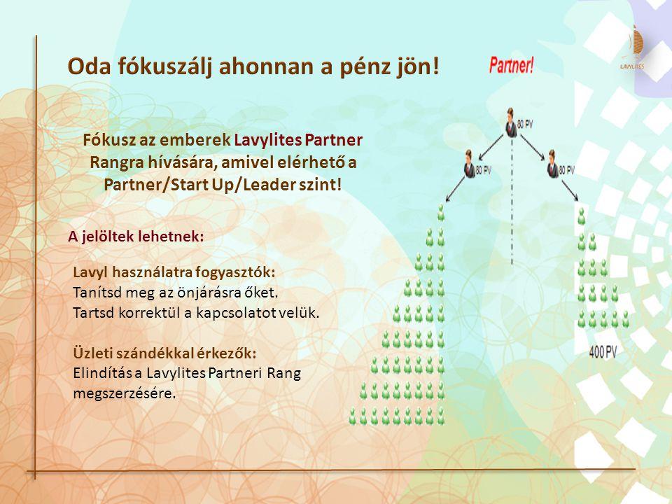 Fókusz az emberek Lavylites Partner Rangra hívására, amivel elérhető a Partner/Start Up/Leader szint.