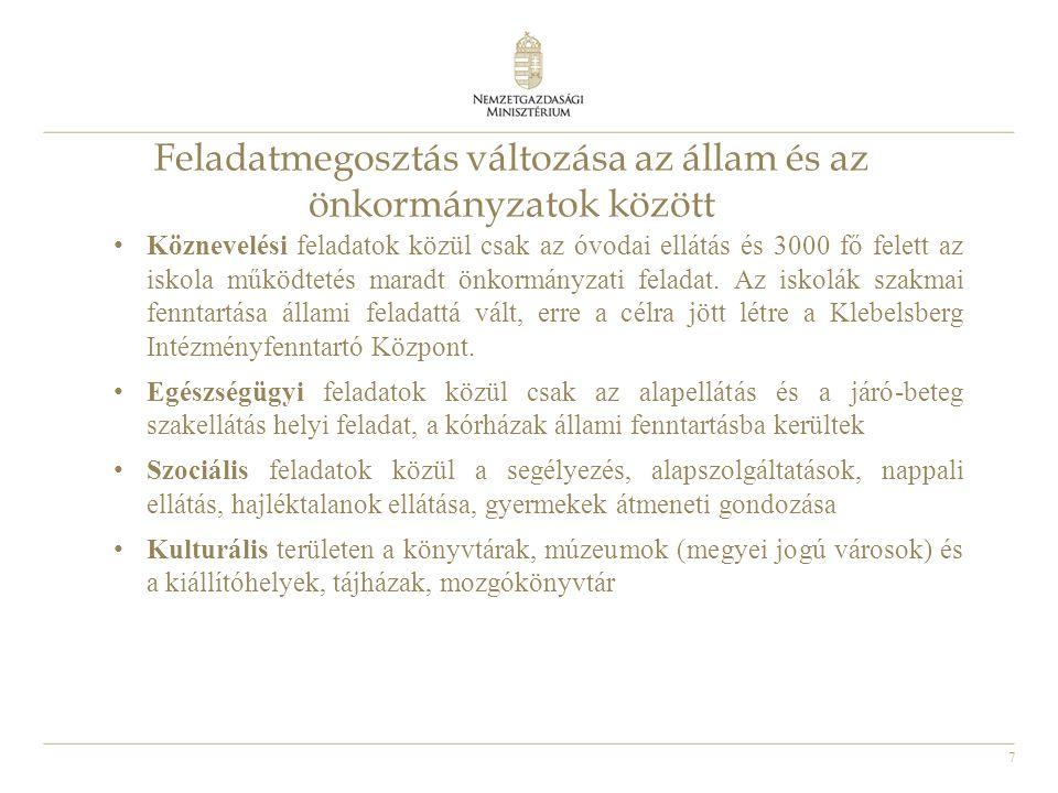 8 Az önkormányzatok jogállása Az önkormányzati az államháztartás külön alrendszerét képezik, elkülönülve a központi alrendszertől Az önkormányzáshoz való jogot az Alaptörvény rögzíti, az önkormányzatokról sarkalatos törvény szól (Magyarország helyi önkormányzatairól szóló 2011.