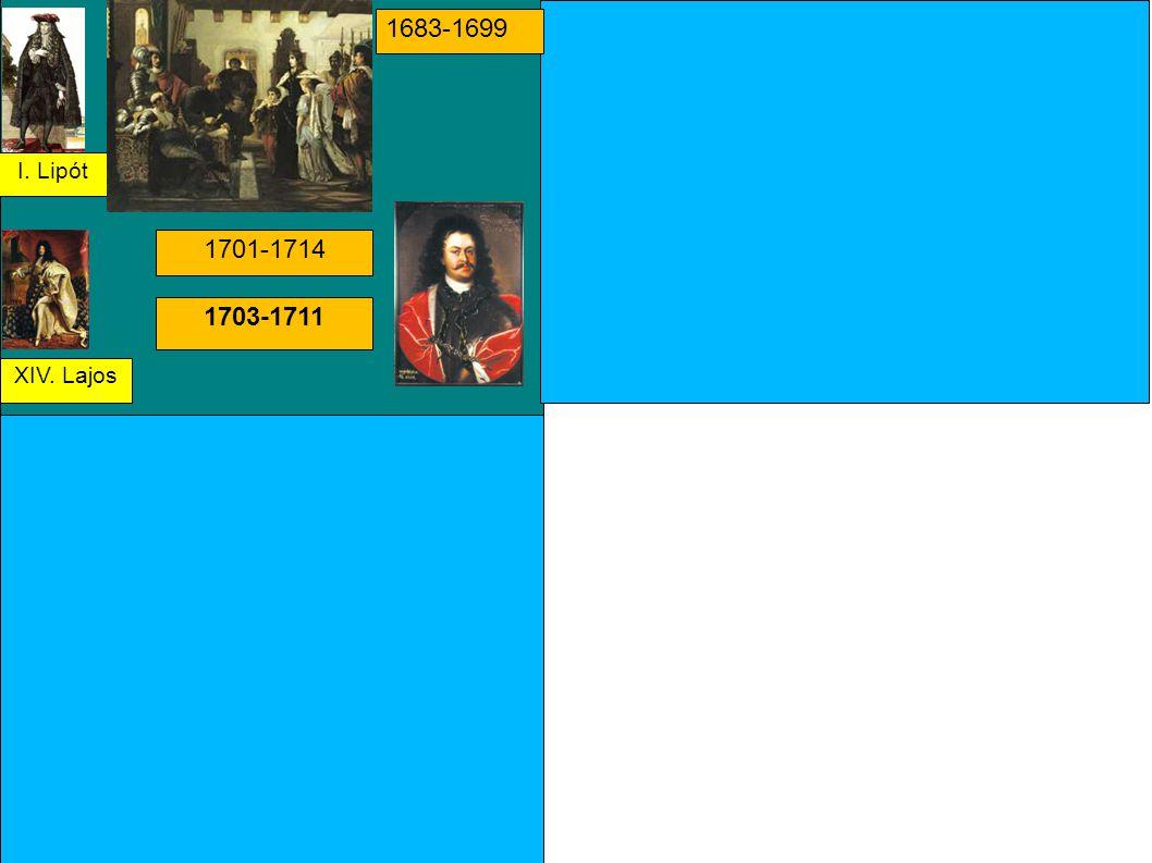 I. Lipót XIV. Lajos 1683-1699 1701-1714 1703-1711