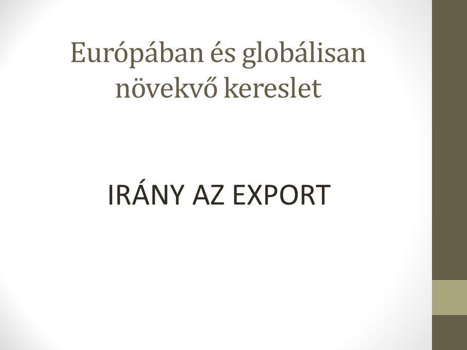 Európában és globálisan növekvő kereslet IRÁNY AZ EXPORT