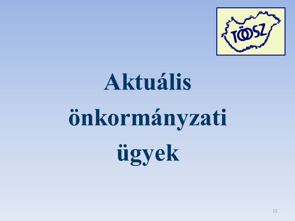 Aktuális önkormányzati ügyek 11