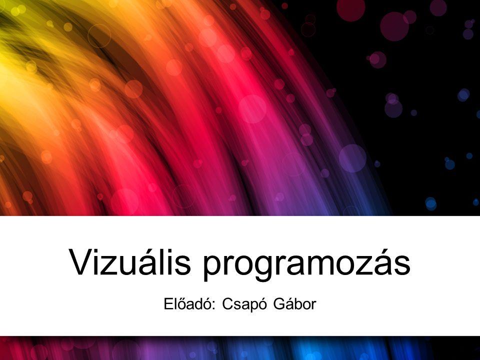 Vizuális programozás Előadó: Csapó Gábor