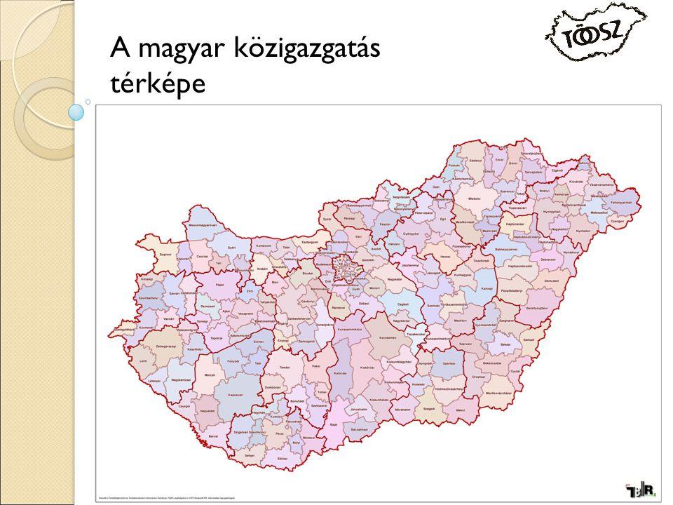 A magyar közigazgatás térképe