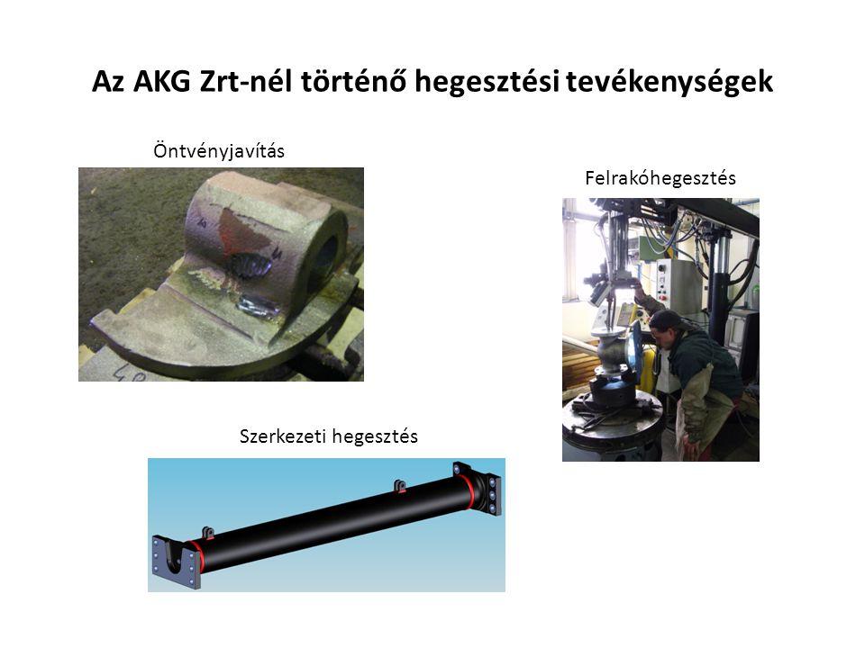 Az AKG Zrt-nél történő hegesztési tevékenységek Öntvényjavítás Felrakóhegesztés Szerkezeti hegesztés