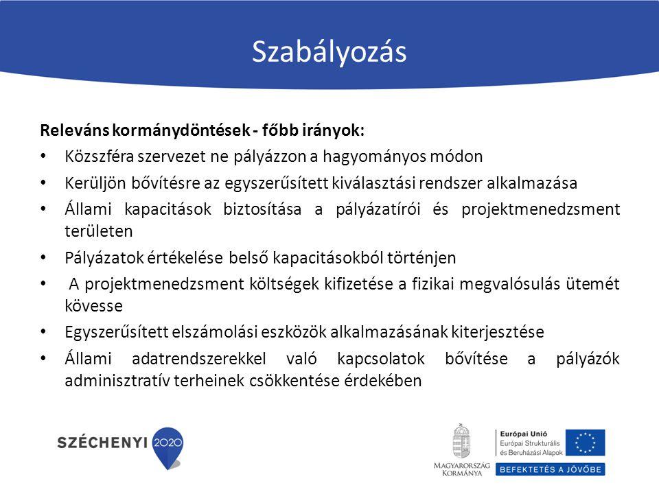 III.A 2014-20 időszak újdonságai a szabályozásban 272/2014.