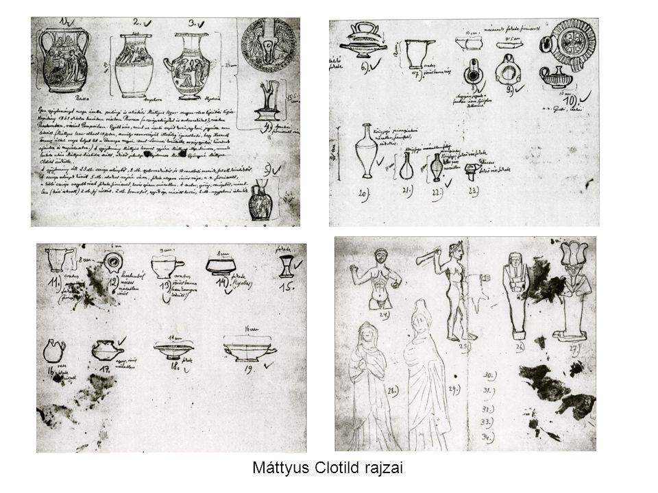 Máttyus Clotild rajzai