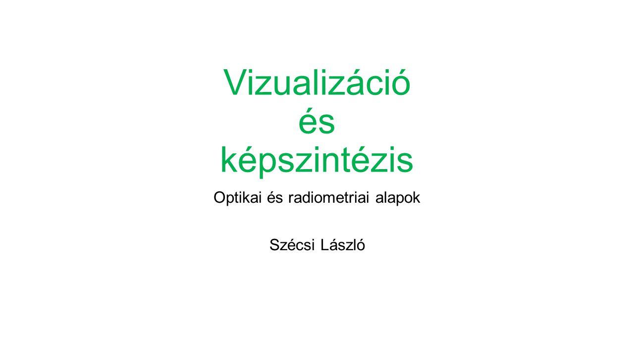 Vizualizáció és képszintézis Optikai és radiometriai alapok Szécsi László