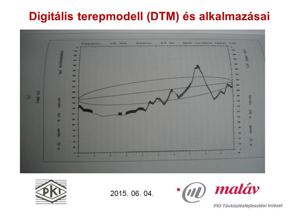 Digitális terepmodell (DTM) és alkalmazásai 2015. 06. 04.