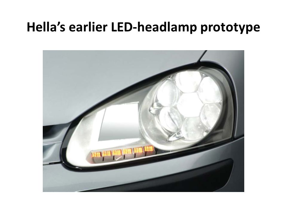 Hella's earlier LED-headlamp prototype
