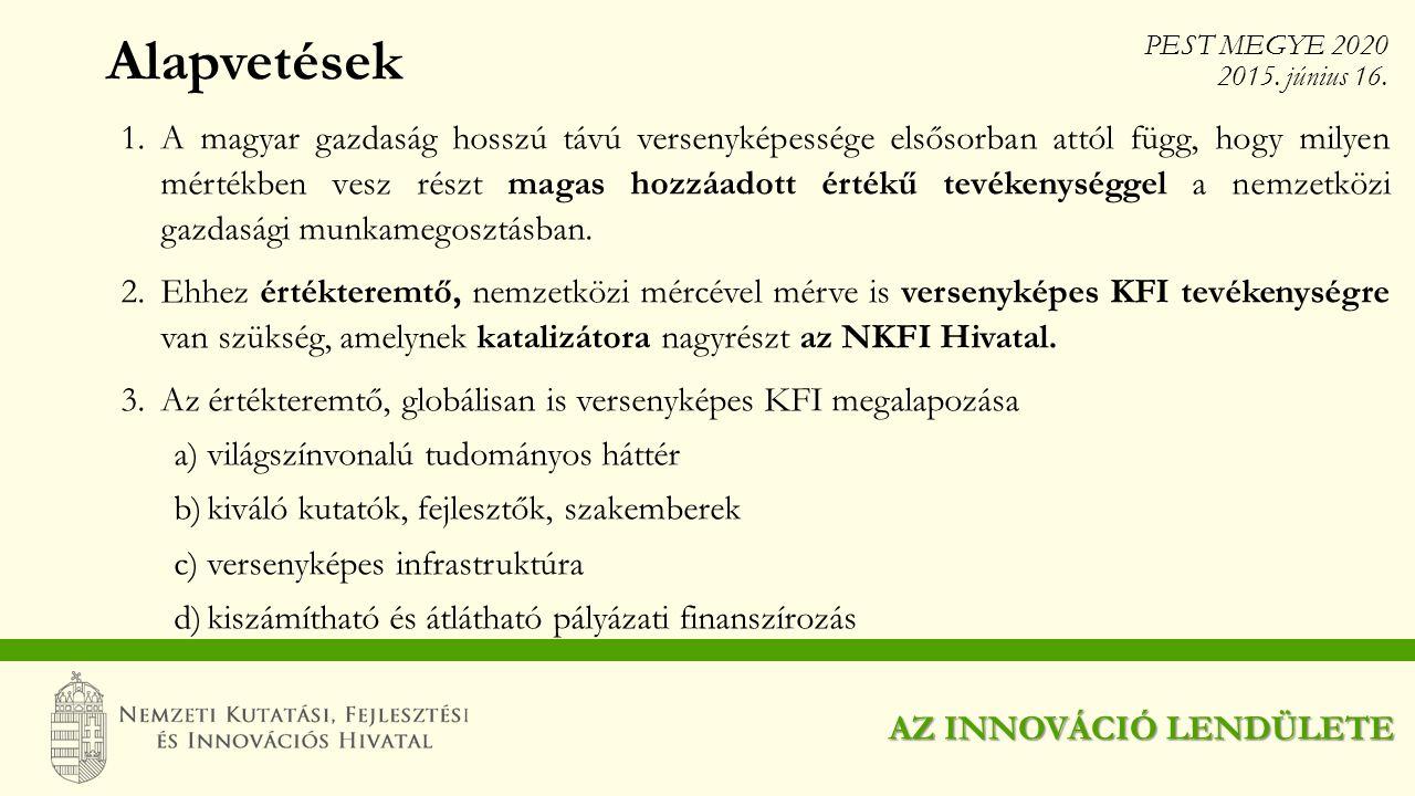 Alapvetések 1.A magyar gazdaság hosszú távú versenyképessége elsősorban attól függ, hogy milyen mértékben vesz részt magas hozzáadott értékű tevékenys