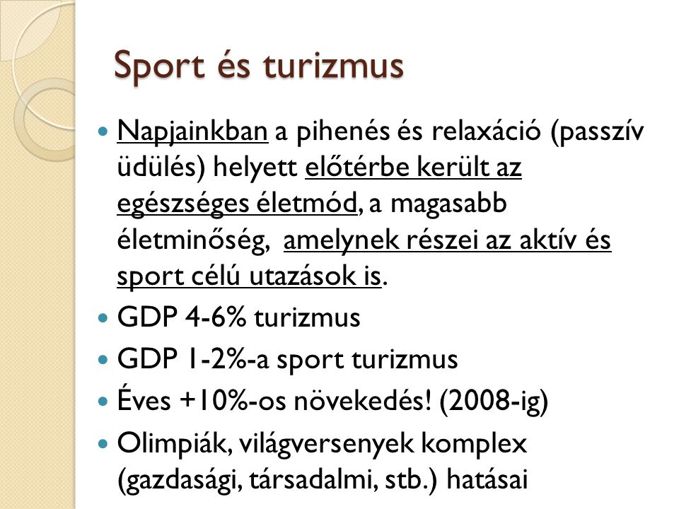 """Természeti erőforrások szerepe a turisztikai kínálatban Esztétikai élményt nyújt Pihenési (rekreációs) lehetőségeket biztosít Nyugalmat sugároz Sporttevékenységnek (aktív időtöltésnek) ad """"keretet Elősegíti az egészségmegőrzést Tanulási lehetőséget nyújt Támogatja az önmegvalósítást (Testi élmény és pozitív pszichés hatás = """"ép testben ép lélek )"""