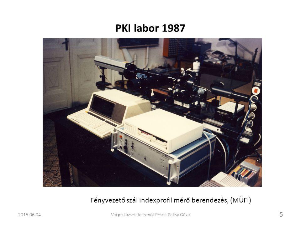 PKI Optikai labor fejlesztése A beruházások során lehetőség nyílt egy korszerű, optikai és átviteltechnikai műszerekkel felszerelt laboratórium kialakítására és folyamatos fejlesztésére.