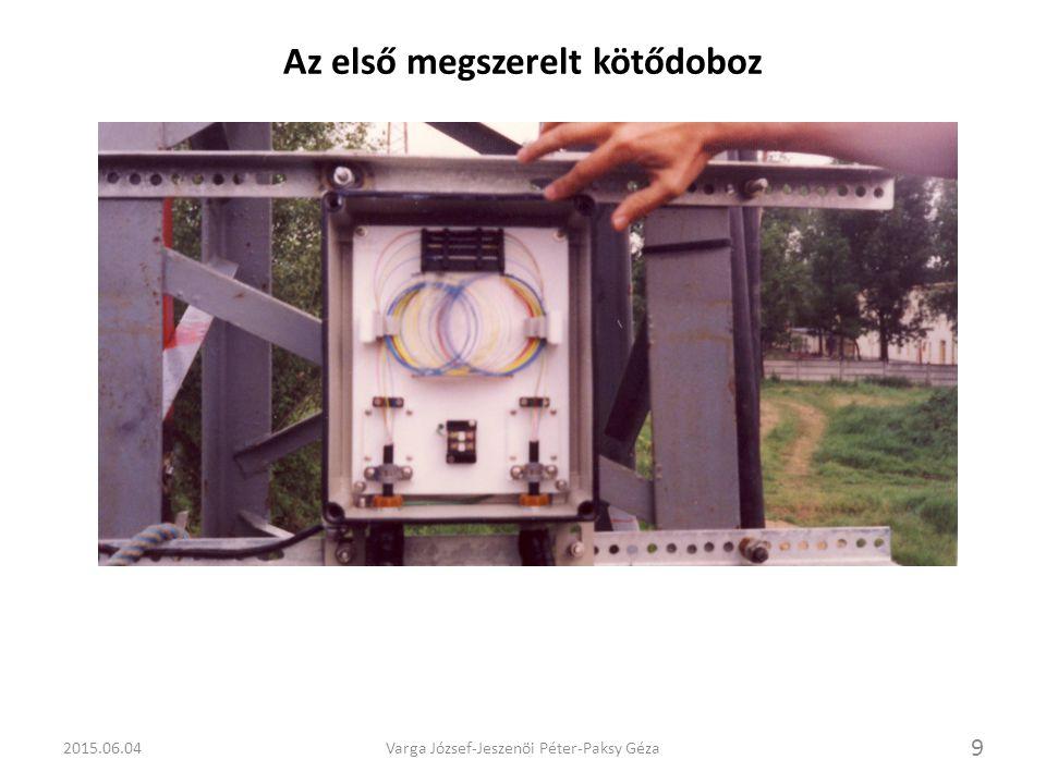 2015.06.04Varga József-Jeszenöi Péter-Paksy Géza 10 Szálhegesztés emelőkosárban és a telepített berendezés Esztergomban OVB-30 és CMB-30 (TERTA)