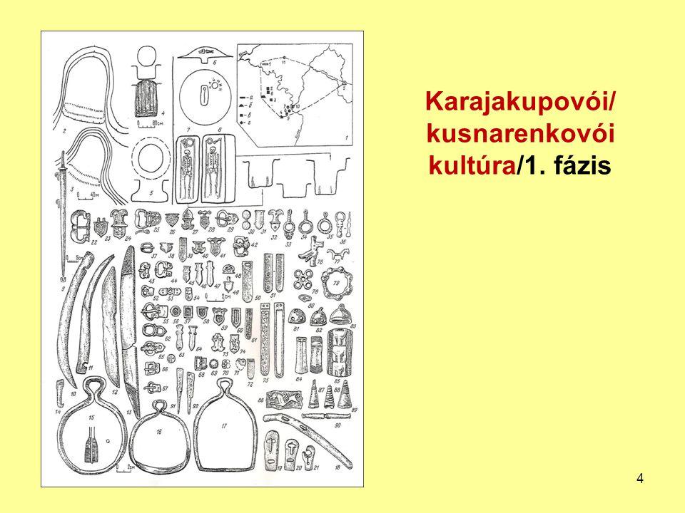 Lovas harcos felszerelése − karajakupovói/kusnarenkovói kultúra/2.