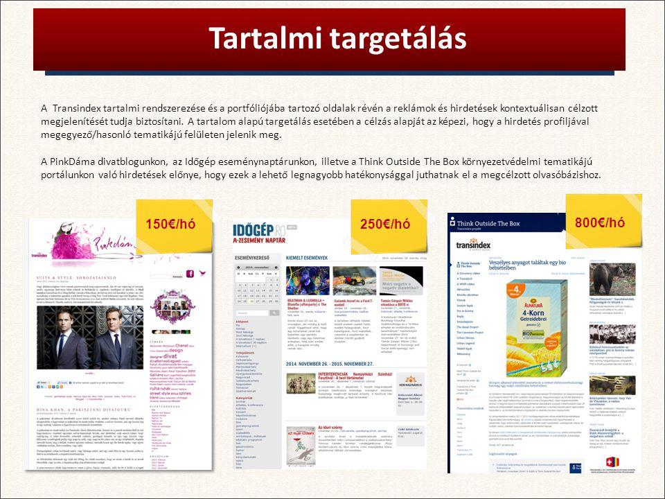A Transindex tartalmi rendszerezése és a portfóliójába tartozó oldalak révén a reklámok és hirdetések kontextuálisan célzott megjelenítését tudja biztosítani.