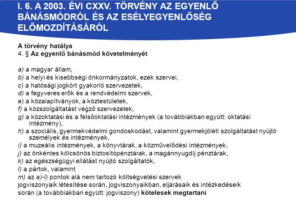 I. 6. A 2003. ÉVI CXXV.