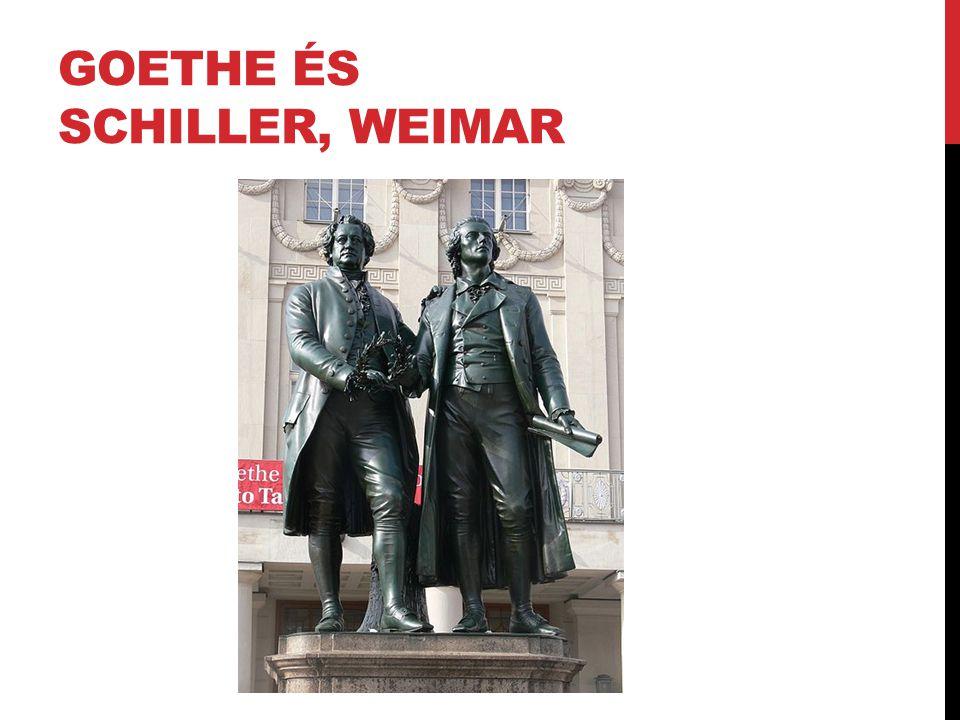GOETHE ÉS SCHILLER, WEIMAR