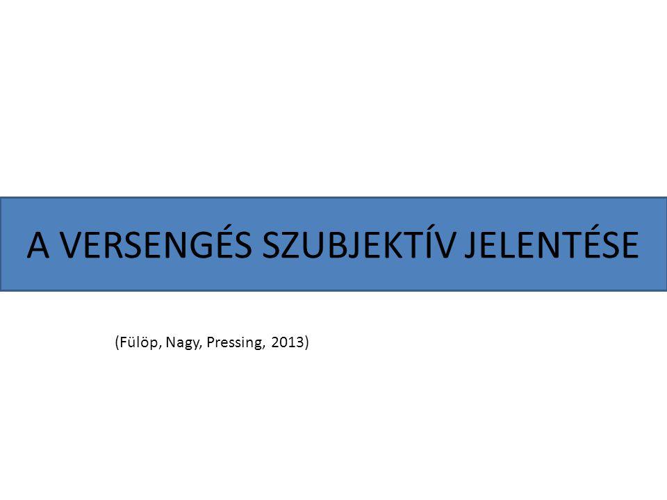 A VERSENGÉS SZUBJEKTÍV JELENTÉSE (Fülöp, Nagy, Pressing, 2013)