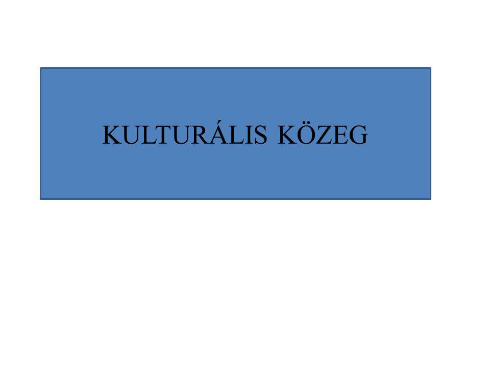 KULTURÁLIS KÖZEG