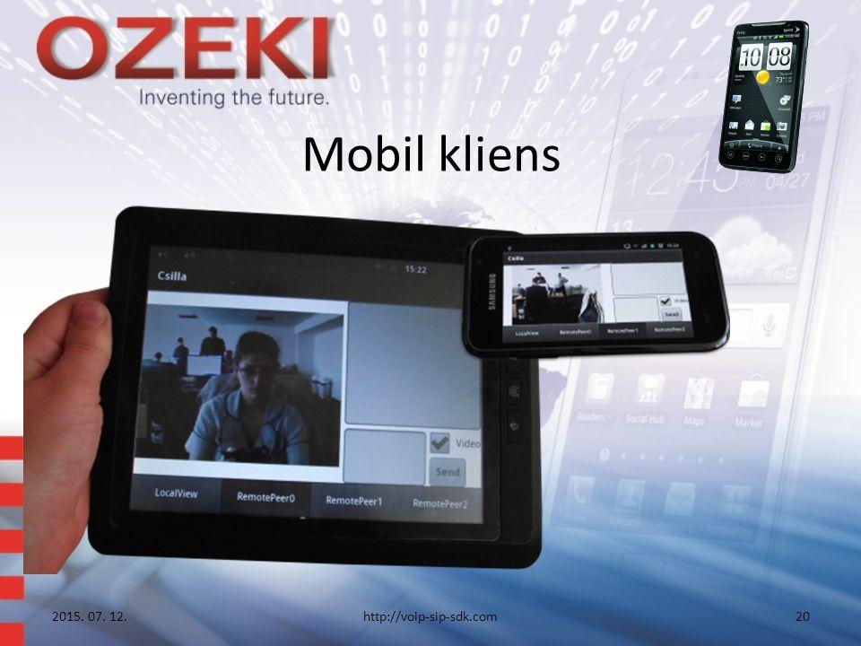 Mobil kliens 2015. 07. 12.http://voip-sip-sdk.com20